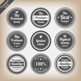 Grupo de etiquetas superior da qualidade do vintage ilustração royalty free