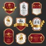 Grupo de etiquetas superior luxuoso ilustração do vetor