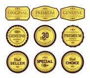 Grupo de etiquetas superior simples e claro ilustração stock