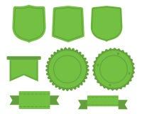Grupo de etiquetas verdes Ilustração Royalty Free