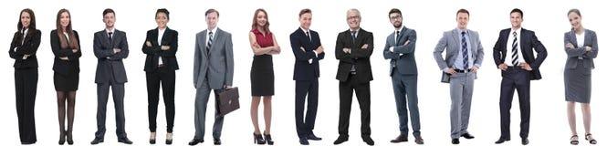 Grupo de executivos bem sucedidos isolados no branco fotografia de stock