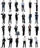 Grupo de executivos, conceito da colagem. imagem de stock royalty free