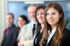 Grupo de executivos de sorriso Imagens de Stock Royalty Free