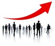 Grupo de executivos e de conceitos do sucesso imagem de stock royalty free