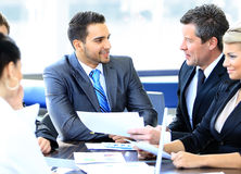 Grupo de executivos felizes Imagens de Stock Royalty Free