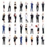 Grupo de executivos isolados no branco foto de stock