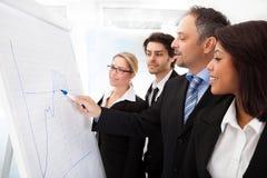 Grupo de executivos na apresentação Foto de Stock Royalty Free