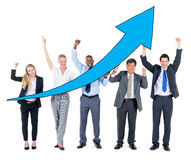 Grupo de executivos na recuperação econômica Fotos de Stock