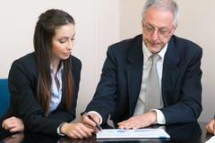 Grupo de executivos no trabalho Imagem de Stock Royalty Free