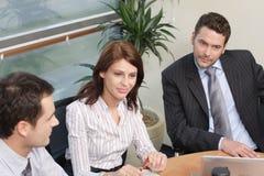 Grupo de executivos que trabalham no projeto Fotos de Stock Royalty Free