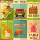 Grupo de exploração agrícola dos cartazes fresco ilustração do vetor