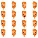 Grupo de expressão do homem louro Imagens de Stock Royalty Free