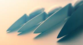 Grupo de facas de cozinha Imagens de Stock