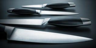Grupo de facas de cozinha Imagem de Stock Royalty Free