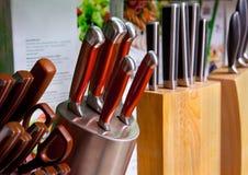 Facas de cozinha Imagem de Stock Royalty Free