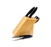 Grupo de facas isoladas Fotos de Stock Royalty Free