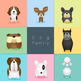 Grupo de família de cão ilustração royalty free