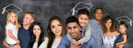 Grupo de famílias fotografia de stock