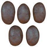 Grupo de feijões de café, no fundo branco Fotos de Stock