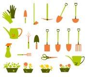 Grupo de ferramentas colorido do jardim - ilustração do vetor Imagem de Stock Royalty Free