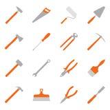 Grupo de ferramentas da construção da cor, ilustração Foto de Stock