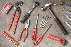 Grupo de ferramentas de DIY Fotografia de Stock