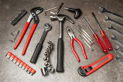 Grupo de ferramentas de DIY Fotos de Stock Royalty Free