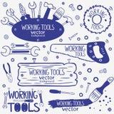 Grupo de ferramentas do funcionamento Imagem de Stock