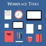 Grupo de ferramentas do local de trabalho Foto de Stock Royalty Free