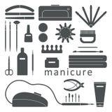 Grupo de ferramentas do tratamento de mãos Fotografia de Stock Royalty Free