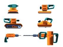 Grupo de ferramentas elétricas Imagem de Stock