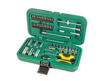 Grupo de ferramentas em um caso Fotos de Stock