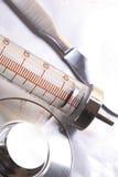 Grupo de ferramentas médicas retros fotografia de stock royalty free