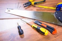 Grupo de ferramentas para a renovação home Fotografia de Stock Royalty Free