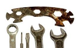 Grupo de ferramentas velhas Fotografia de Stock