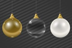 Grupo de festão do vidro do Natal Imagem de Stock