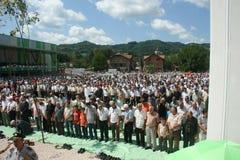 Grupo de fiel islâmico na oração Fotos de Stock Royalty Free