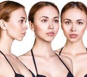 Grupo de figuras da mulher no roupa de banho preto Fotos de Stock