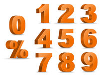 Grupo de figuras e de por cento da cor 3D Fotos de Stock
