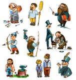 Grupo de figuras históricas e mythical ilustração royalty free