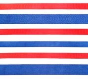 Grupo de fitas azuis e vermelhas do cetim isoladas Fotos de Stock Royalty Free