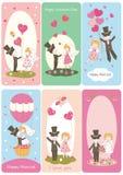 Grupo de flayers para o dia de Valentim Imagem de Stock Royalty Free