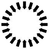Grupo de flechas que siguen un círculo que señala hacia adentro libre illustration