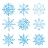 grupo de flocos de neve do branco do vetor Fotografia de Stock Royalty Free