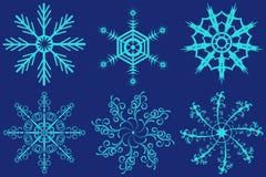 Grupo de flocos de neve fantásticos do vetor Imagem de Stock Royalty Free