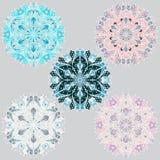 Grupo de flocos de neve para o fundo do Natal Fotos de Stock Royalty Free