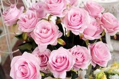 Grupo de flor cor-de-rosa da tela Foto de Stock Royalty Free