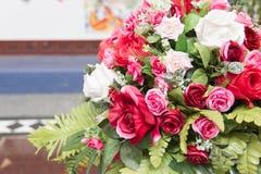 Grupo de flor cor-de-rosa da tela Imagens de Stock