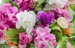 Grupo de flor cor-de-rosa da tela Fotografia de Stock