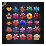 Grupo de flores do vetor. ilustração stock